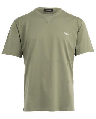 Cotton T-shirt with logo embroidery ERMENEGILDO ZEGNA