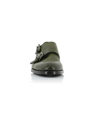 Grained leather monkstrap shoes SANTONI