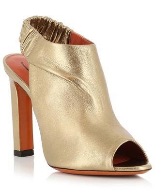 Sandalen aus goldenem Leder mit Absatz SANTONI