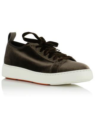 Velvet lace-up sneakers SANTONI