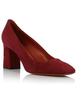 Block heel suede pumps with square toes SANTONI