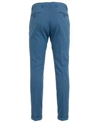 Textured cotton slim fit trousers B SETTECENTO