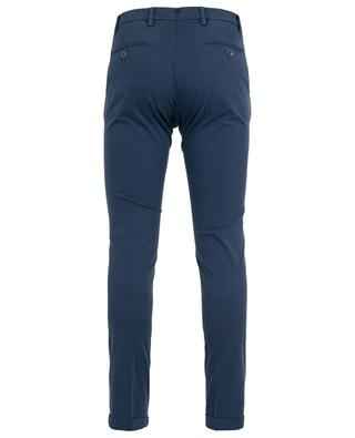 Getupfte Slim-Fit-Hose aus Baumwolle B SETTECENTO