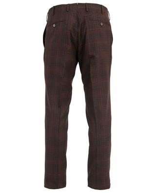 Wool, linen and silk check trousers MARCO PESCAROLO