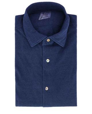 Blu piqué cotton shirt MAZZARELLI