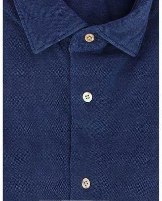 Chemise en coton piqué Blu MAZZARELLI