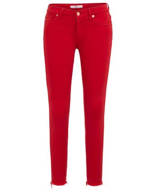 The Skinny Crop Super Skinny Illusion Red frayed jeans 7 FOR ALL MANKIND