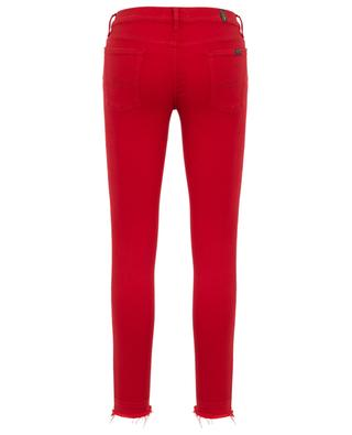 Ausgefranste Jeans The Skinny Crop Super Skinny Illusion Red 7 FOR ALL MANKIND