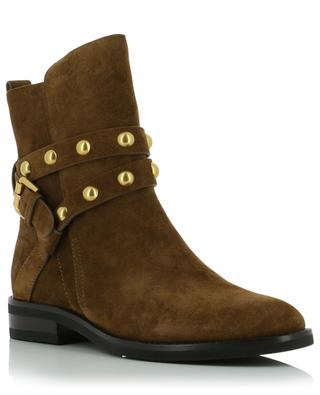 Janis flat suede ankle boots with strap SEE BY CHLOE