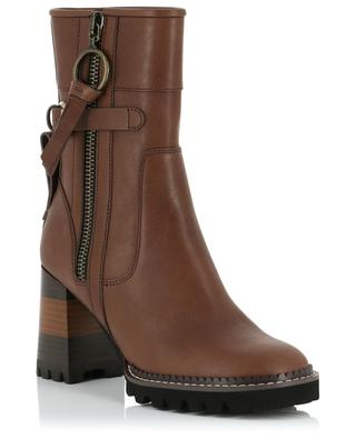 Bryn Equestrian heeled leather ankle boots SEE BY CHLOE