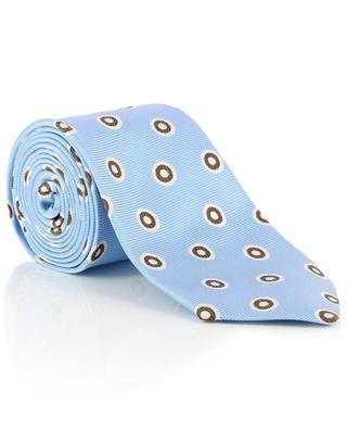 Printed textured silk tie LUIGI BORRELLI