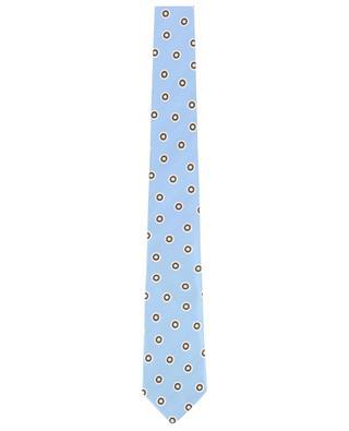 Printed textured silk tie BORRELLI