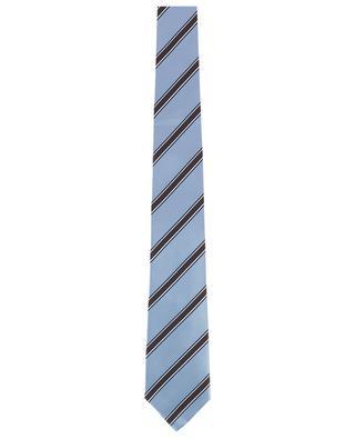 Gestreifte Krawatte aus strukturierter Seide LUIGI BORRELLI
