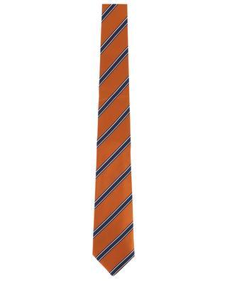 Gestreifte Krawatte aus strukturierter Seide BORRELLI