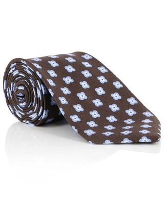 Daisy print silk tie LUIGI BORRELLI