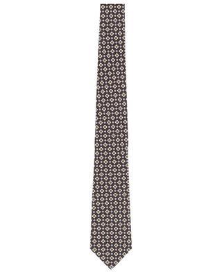 Silk flower print tie LUIGI BORRELLI