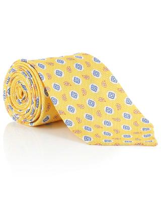 Printed silk and linen tie LUIGI BORRELLI