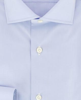 Fabio monochrome poplin shirt BORRELLI