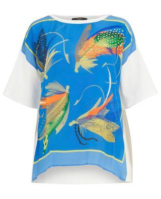 T-Shirt mit Feder-Print Urago WEEKEND MAXMARA