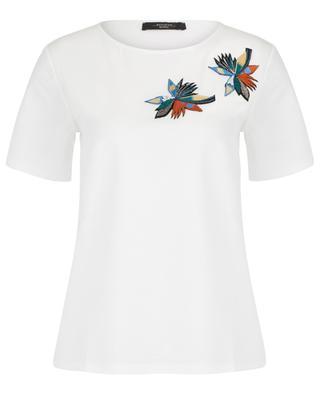 Blütenbesticktes T-Shirt Lollo WEEKEND MAXMARA