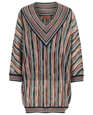 Multi-coloured knit mini-dress MISSONI