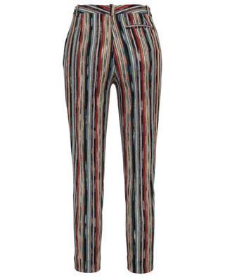 Pantalon fuselé rayé en mesh lamé MISSONI