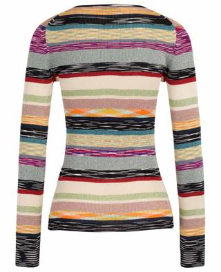 Striped lurex V-neck sheath jumper MISSONI