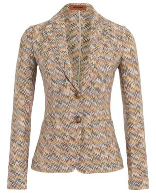 Cinched zigzag design knit blazer MISSONI