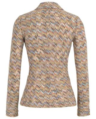 Cinched zigzag design knit blazer MISSONI