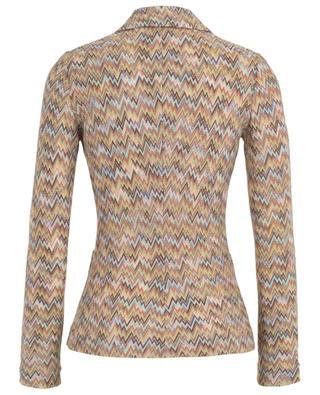 Blazer cintré tricot motif zigzag MISSONI