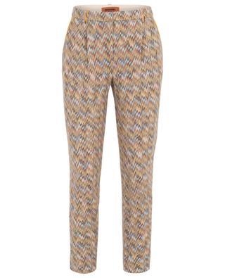 Multi-coloured knit trousers MISSONI