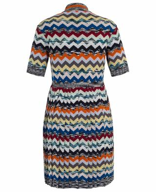 Robe courte plissée en laine MISSONI