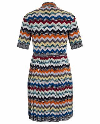 Short pleated wool short dress MISSONI