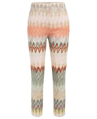 Zigzag pattern cropped openwork knit trousers MISSONI