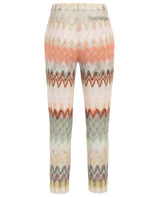 Pantalon raccourci en maille ajourée zigzag MISSONI