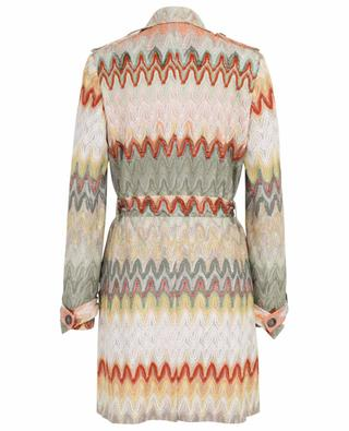 Leichter bunter Strick-Trenchcoat MISSONI