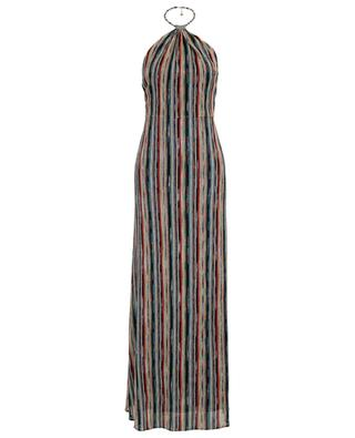 Multi-coloured knit long dress MISSONI