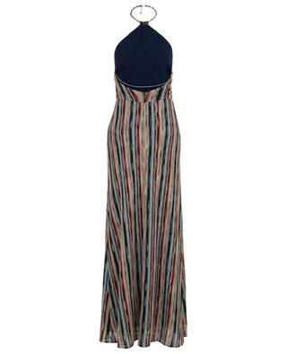 Multi-coloured knit long dress MISSONI