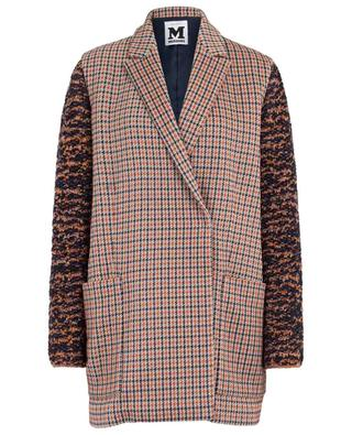Lightweight knit coat with houndstooth checks M MISSONI