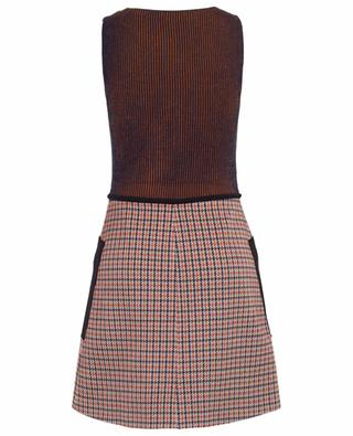 Kurzes Kleid mit Hahnentrittmuster und Neopren-Details M MISSONI