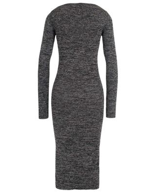 Ribbed wool sheath knit dress with front slit M MISSONI