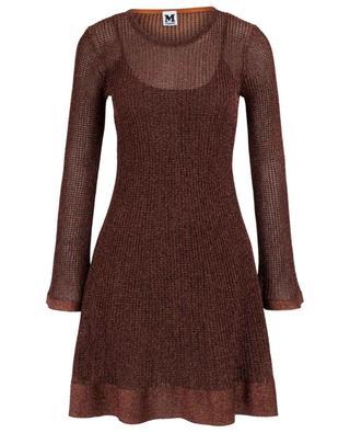 Kurzes Kleid in Häkeloptik mit Rundhalsausschnitt M MISSONI