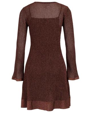 Short crocheted knit round neck dress M MISSONI