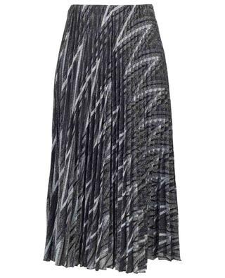 Jupe plissée à paillettes motifs zigzag M MISSONI