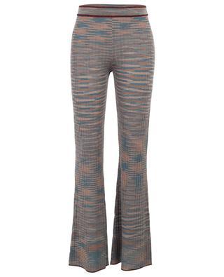 Pantalon en laine vierge mélangée crochetée M MISSONI