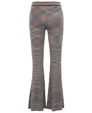 Crocheted knit virgin wool blend trousers M MISSONI