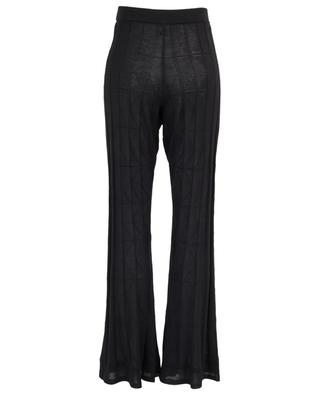 Viscose and wool crocheted knit straight trousers M MISSONI