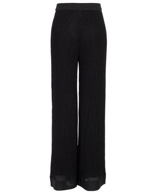 Crocheted knit wide leg trousers M MISSONI