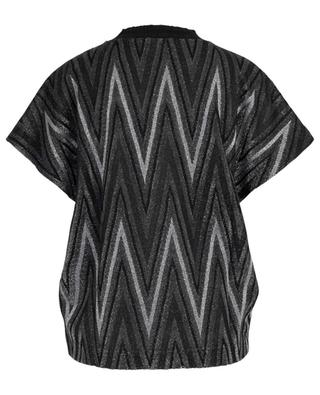 Sparkling knit top with zigzag pattern M MISSONI