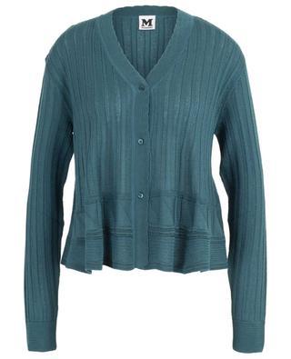 Ribbed wool blend cardigan M MISSONI